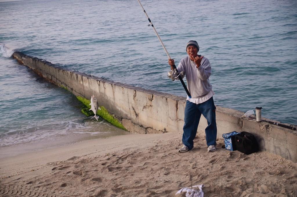 Fisherman in Hawaii