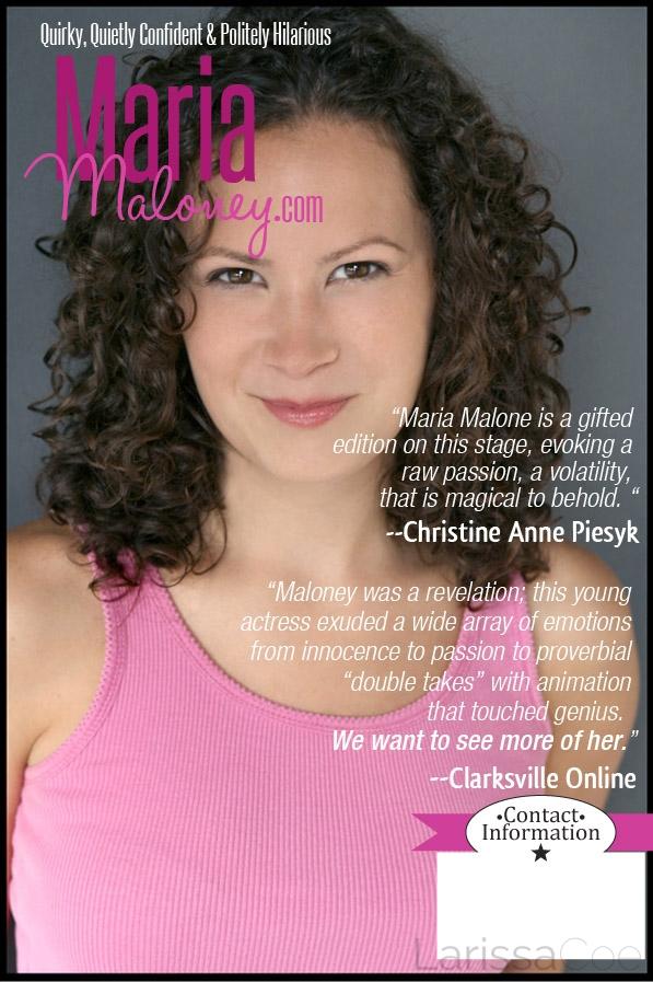 Maria Maloney one sheet